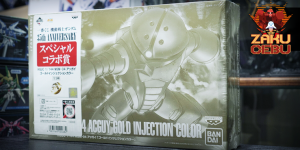 Premium Bandai 1/144 HG Acguy Gold Injection Color (Banpresto Ichiban Kuji: Special Collaboration Prize)
