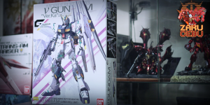 Gunpla Expo 1/100 MG RX-93 Nu V Gundam Ver Ka (Clear Color) Gundam Docks at Hong Kong III
