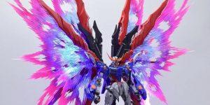 PRE ORDER: Moshow 1/72 Metal Build Seed Destiny KAI Evil Gundam Exclusive Deluxe Set (4 Effect Wings + Custom LED Light) Action Figure