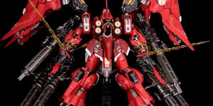 PRE ORDER: Anaheim Factory Models (MC) 1/100 Metalbuild NZ-666 Kshatriya (Red Comet Ver.) with Full Gatling Gun Expansion Pack