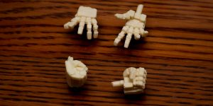 PRE ORDER: AOK Silveroaks 1/100 MG Styling Hands Full Resin Kit Type A (Original Cast)