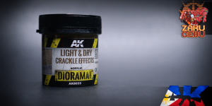 AK Interactive Diorama Series Light and Dry Crackle Effects 100 mL