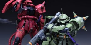 PRE ORDER: AnchoreT Studios X Yujiao Land 1/100 Zaku II Twin Pack Resin Conversion Kit (Original Cast)