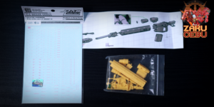 Side 3 1/100 MG Zaku II Sniper Rifle Full Resin Kit (Original Cast)