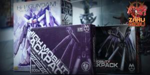 Bandai 1/100 MG Hi-V Gundam Ver Ka + Rage Nucleon MG BC-T02 Hi Nu Ver Ka High Mobility Backpack Set