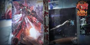 Bandai 1/100 MG MSN-06S Sinanju (OVA) + Takumi Studio Sinanju Plastic Conversion Kit Set